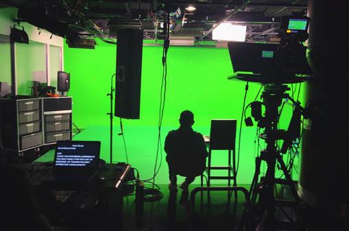 BTS Filming Green Screen