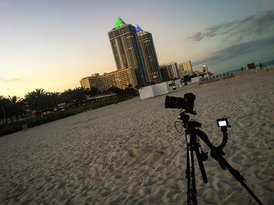 BTS Filming Miami Beach Double Timelapse