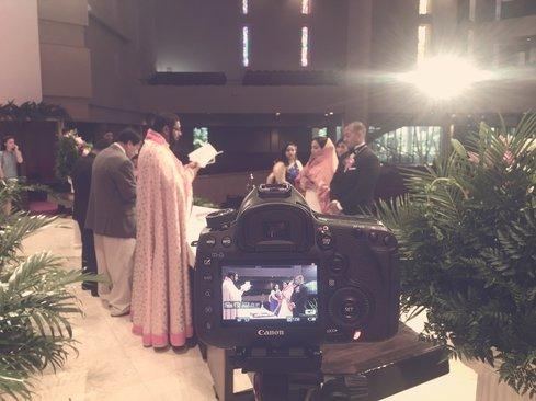 Filming Indian Wedding Ceremony