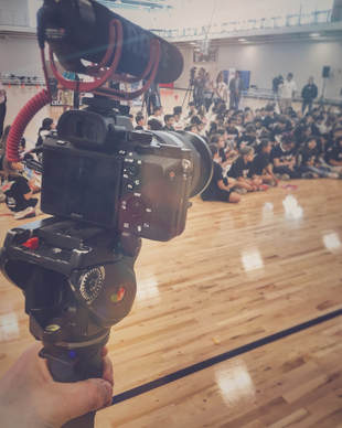 BTS Filming Basketball Event